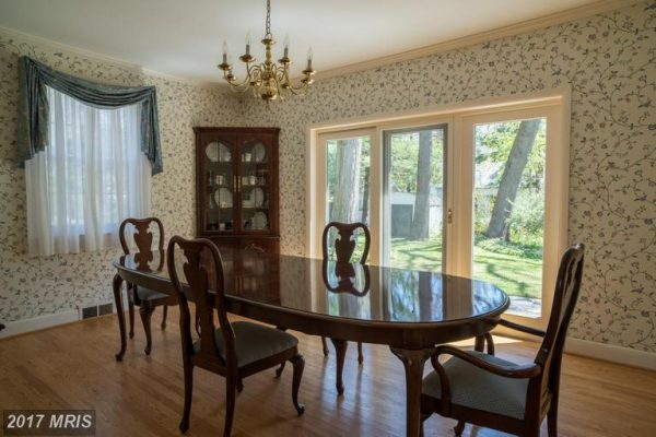 Dining Room With French Doors to Patio