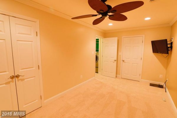 Lower level home office or playroom