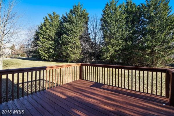 Rear Deck for Cookouts